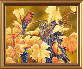 Птичий календарь.Осень. Размер - 23 х 19 см.