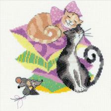 Кошки-мышки. Размер - 20 х 20 см.