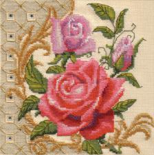 Шёлк розы. Размер - 15 х 15 см.